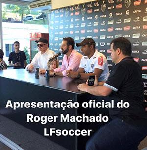 Roger Machado se apresenta à imprensa mineira
