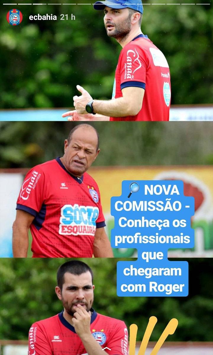 Roger Machado será o novo técnico do Esporte Clube Bahia