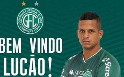 Lucão é o novo centroavante do Guarani Futebol Clube