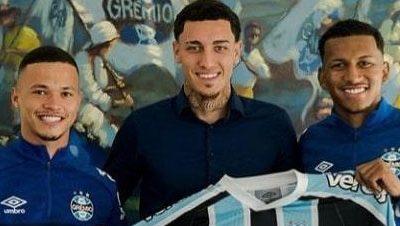 Os atletas Darlan, Victor Bobsin e Leo Chu renovaram seus contratos com o Grêmio
